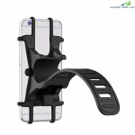Bicycle Phone Holder Adjustable Silicone Handlebar Crack for Road Mountain Bike