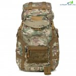Outdoor Waterproof 60L Multifunctional Tactical Backpack with Rain Cover for Hiking Camping