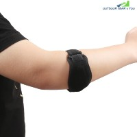 Adjustable Elbow Guard for Basketball Badminton  (BLACK)
