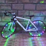 Wheelight A02 Colorful LED Bicycle Wheel Spoke Light String(Colourful)