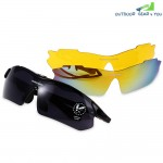 Robesbon 0089 Non-polarized Sports Running Outdoor Cycling Glasses UV400 Sunglasses