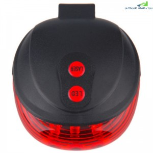 Bicycle Tail Light Laser Waterproof Safety Warning Rear Red LED