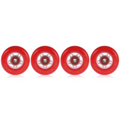 PUENTE 4PCS Skateboard Truck Shock Resistant Wheels PU (RED)