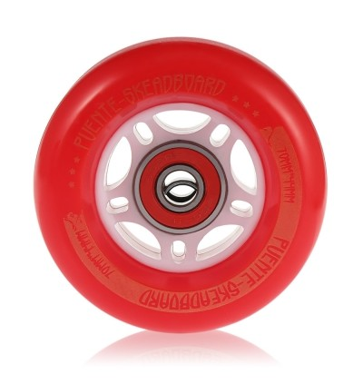 PUENTE 4PCS Skateboard Truck Shock Resistant Wheels PU (RED)