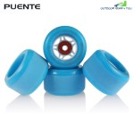 PUENTE 4PCS Skateboard Truck Shock Resistant Wheels PU (BLUE)
