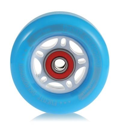 PUENTE 4PCS Skateboard Truck Shock Resistant Wheels PU (BLUE)