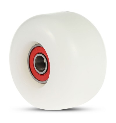 4pcs Skateboard Wheels for Ollie Punk and Jumping (WHITE)