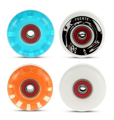 4pcs Skateboard Wheels for Ollie Punk and Jumping (BLACK)