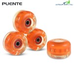 4pcs Skateboard Wheels for Ollie Punk and Jumping (ORANGE)