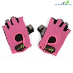 Half Finger Gloves Anti-skid for Sports Gym Riding Climbing (PINK)