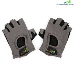 Half Finger Gloves Anti-skid for Sports Gym Riding Climbing (GRAY)