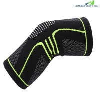 Sport Running Climbing Protection Knitting Kneepad (CRYSTAL GREEN)