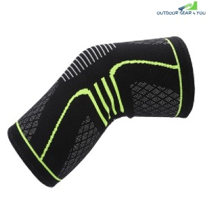 Sport Running Climbing Protection Knitting Kneepad (CRYSTAL GREEN)