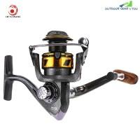 LIE YU WANG 13 + 1 Bearings Double Color Spool Fishing Reel 5.2 : 1 (GRAY)