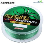PROBEROS 100M Durable Colorful PE 4 Strands Monofilament Braided Fishing Line Angling Accessory (GREEN)