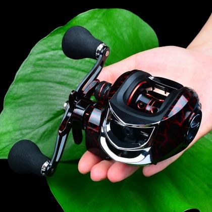 PRO BEROS DW121 Metal Fishing Reel AluminumAlloy 18 + 1 Ball Bearings Spool