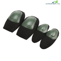 4PCS Tactical Protective Gear Knee Pads Elbow Supporter (ARMY GREEN)
