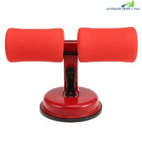 Domestic Adjustable Sit-up Assistor Fitness Equipment (LOVE RED)