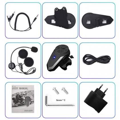 BT-S3 Motorcycle Helmet Bluetooth Headset Wireless Riding Motorcycle Helmet 1000 Meters Built Walkie-talkie