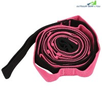 2.5m Auxiliary Yoga Strap Flexible Stretch Belt (ROSE RED)