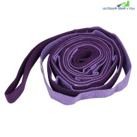2.5m Auxiliary Yoga Strap Flexible Stretch Belt (PURPLE)