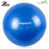 Povit P - 9214 65CM Yoga Ball with Pump for Fitness Balance Workout (BLUE)