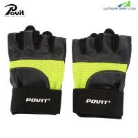 POVIT P - 8365 Half Finger Fitness Gloves Biking Weight Training Workout  (TEA GREEN)