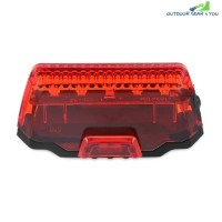 Outdoor Bicycle LED Taillight Low High Flash Mode for Mountain Bike (RED)