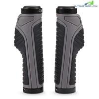 Pair of Bicycle Bike Rubber Handlebar Covers Ergonomic Anti-slip Texture (GRAY)