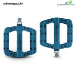 Shanmashi 1712C Nylon Carbon Fiber Mountain Bike Pedals (BLUE)