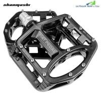 shanmashi MG 5051 2PCS Flat Bicycle Pedals Magnesium Alloy (BLACK)