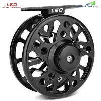 LEO 2 + 1 Ball Bearing Aluminum Alloy Ice Fly Fishing Reel (BLACK)