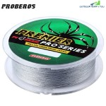 PROBEROS 100M DURABLE COLORFUL PE 4 STRANDS MONOFILAMENT BRAIDED FISHING LINE ANGLING ACCESSORY (GRAY)