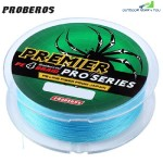 PROBEROS 100M DURABLE COLORFUL PE 4 STRANDS MONOFILAMENT BRAIDED FISHING LINE ANGLING ACCESSORY (BLUE)
