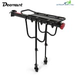 Deemount Bike Cycling Rear Carrier Shelves Quick Release Pannier Rack Seat (BLACK)