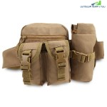 Multifunctional Kettle Waist Pack Belt Bag Military Tactical Pocket (CAMEL BROWN)
