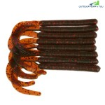 A FISH LURE Knife Tail Soft Worm Fishing Lures 8pcs (SCARLET)