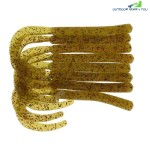 A FISH LURE Knife Tail Soft Worm Fishing Lures 8pcs (KHAKI)