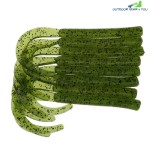 A FISH LURE Knife Tail Soft Worm Fishing Lures 8pcs (CLOVER GREEN)