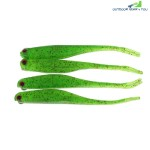 A FISH LURE Soft Fishing Lures Artificial Bait 4pcs (GREEN)
