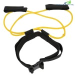 Fitness Booty Resistance Band Tube Strap Leg Stretching Elastic Latex 10lb for Women (MUSTARD)