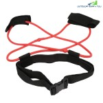 Fitness Booty Resistance Band Belt Tube Strap Leg Stretching Elastic Latex Unisex 20lb (RED)