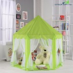 140x135cm Large Princess Castle Tulle Children House Game Selling Play Tent Yurt Creative (GREEN)
