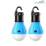 PORTABLE LED LANTERN TENT LIGHT BULB FOR CAMPING HIKING FISHING EMERGENCY (BLUE)