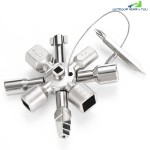 HAKKADEAL 10 IN 1 ELECTRIC CONTROL CABINET CROSS TRIANGLE KEY WRENCH (SILVER)
