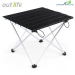 OUTLIFE LIGHTWEIGHT ALUMINUM ALLOY MINI FOLDING TABLE (BLACK)