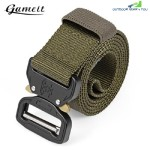 GAMEIT MILITARY TACTICAL BELT WAIST STRAP WITH BUCKLE (GREEN)