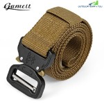 GAMEIT MILITARY TACTICAL BELT WAIST STRAP WITH BUCKLE (BROWN)