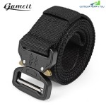 GAMEIT MILITARY TACTICAL BELT WAIST STRAP WITH BUCKLE (BLACK)