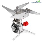 ULTRALIGHT PORTABLE WINDPROOF CAMPING COLLAPSIBLE STOVE (SILVER)